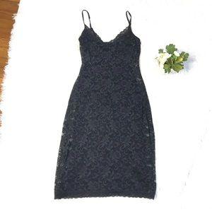 Guess Collection Black Lace Midi Sheath Dress 2